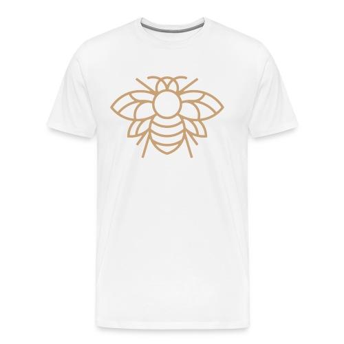 Golden Bee on White Tee - Men's Premium T-Shirt
