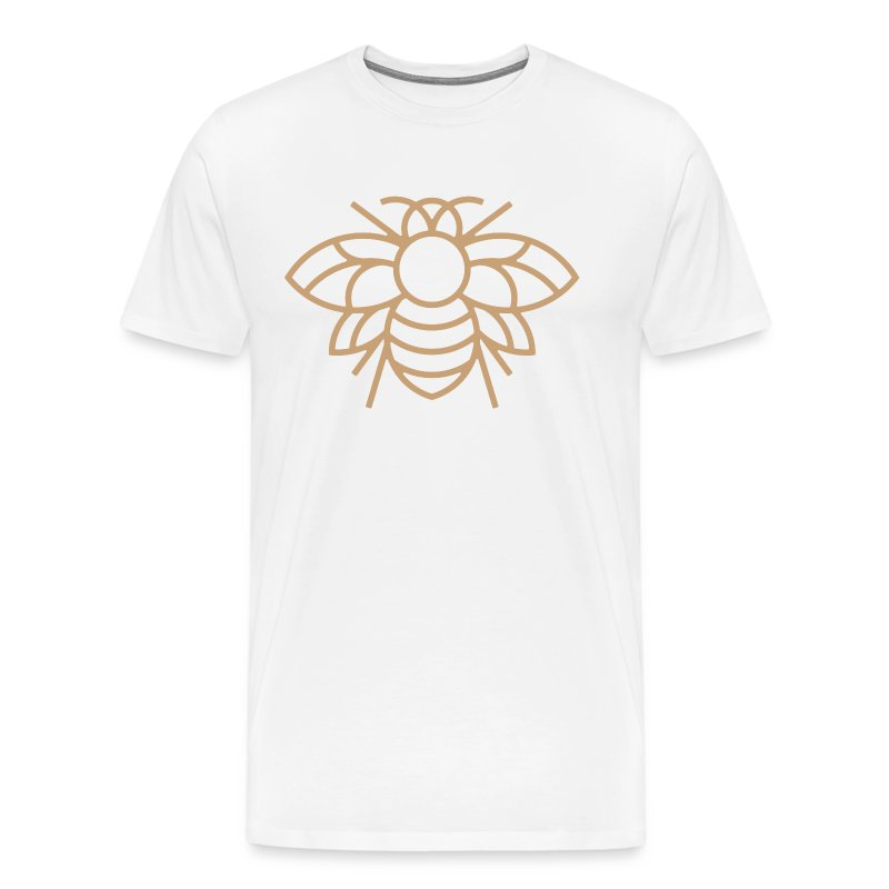 Golden Bee on White Tee - Men's Premium T-Shirt