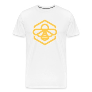 Yellow Bee White Tee - Men's Premium T-Shirt