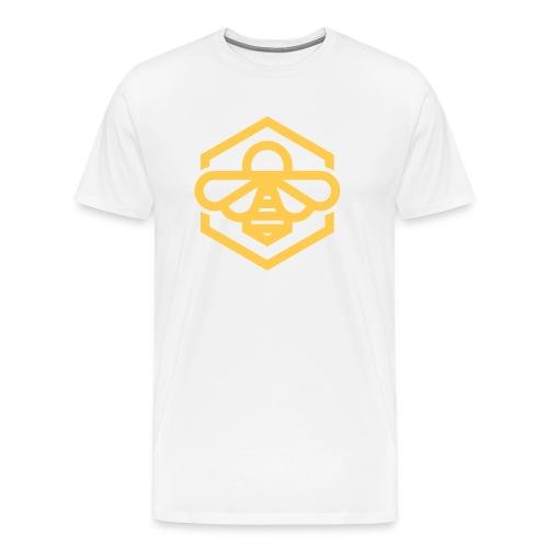 Yellow Bee White Tee - Men's Premium T-Shirt