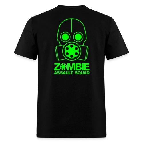 Double Sided Zombie Assault Squad T-shirt - Men's T-Shirt
