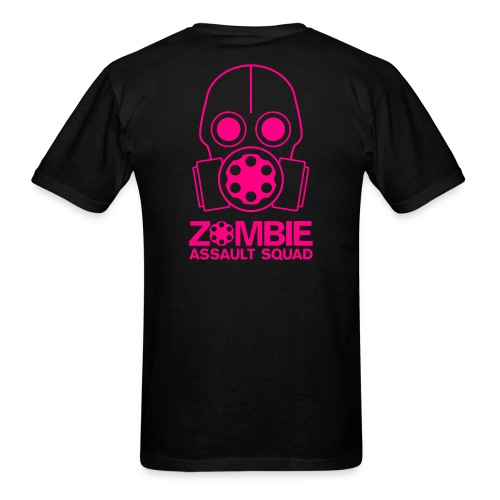 Double Sided Zombie Assault Squad T-shirt Pink - Men's T-Shirt