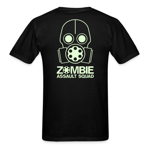 Double Sided Glow in the Dark Zombie Assault Squad T-shirt - Men's T-Shirt