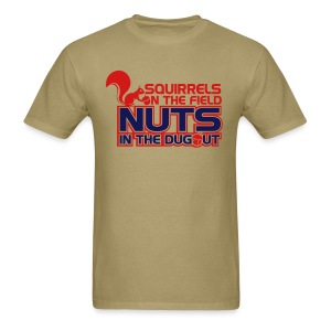 Squirrels on the Field Nuts in the Dugout - Gold - Men's T-Shirt