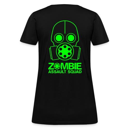 Zombie Assault Squad Women's T-shirt in Zombie Green - Women's T-Shirt