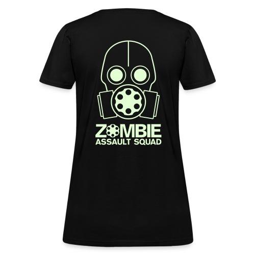 Glow in the Dark Zombie Assault Squad Women's T-shirt Glow in the Dark - Women's T-Shirt