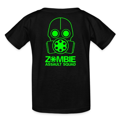 Kid's Original Zombie Assault Squad T-shirt in Zombie Green Double Sided - Kids' T-Shirt