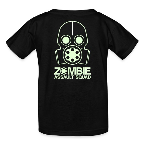 Kid's Glow in the Dark Zombie Assault Squad T-shirt Double Sided - Kids' T-Shirt