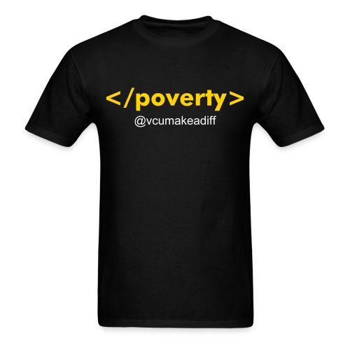 End Poverty @vcumakeadiff - Men's T-Shirt