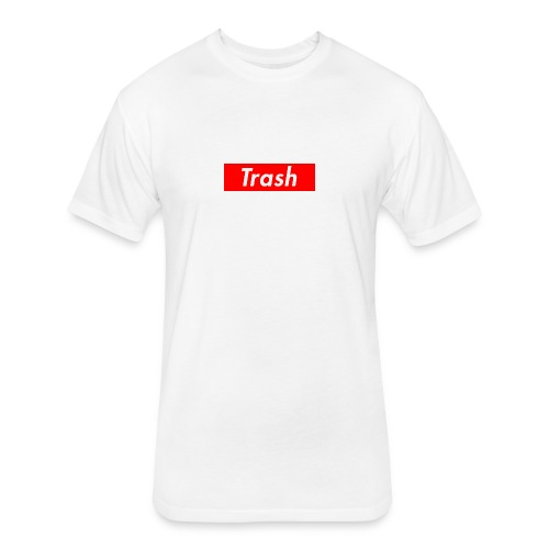 trash shirt - Fitted Cotton/Poly T-Shirt by Next Level