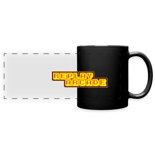 Wrap Around Replay Arcade Logo Mug - Full Color Panoramic Mug