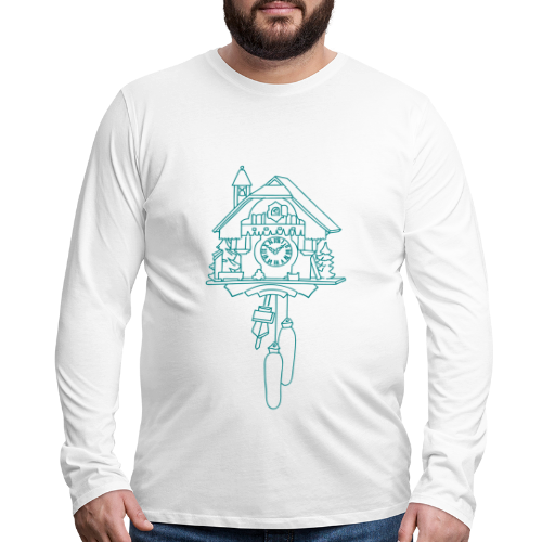 Kuckuck Clock - Men's Premium Long Sleeve T-Shirt