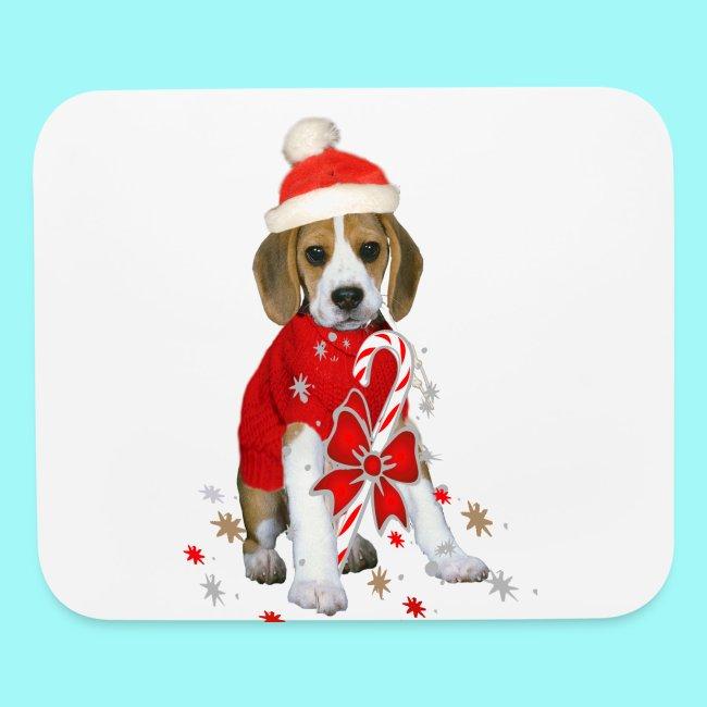 Friskybizpet Designs Llc Beagle Puppy Christmas Mousepad Mouse