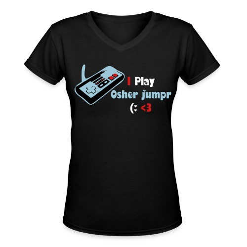 Girls Play Osherjumpr  - Women's V-Neck T-Shirt