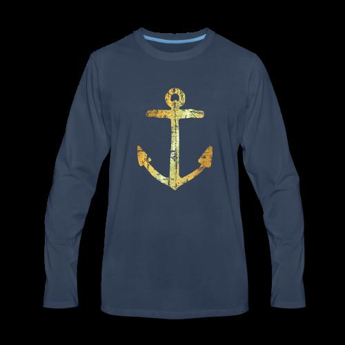 Anchor Sweatshirt (Ancient Gold) - Men's Premium Long Sleeve T-Shirt