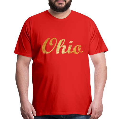 Ohio T-Shirt (Ancient Gold) - Men's Premium T-Shirt
