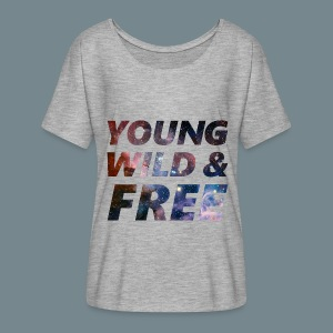 YOUNG WILD & FREE - Women's Flowy T-Shirt