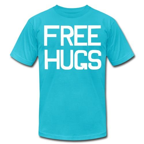 Free hugs Tshirt - Guy - Men's Fine Jersey T-Shirt