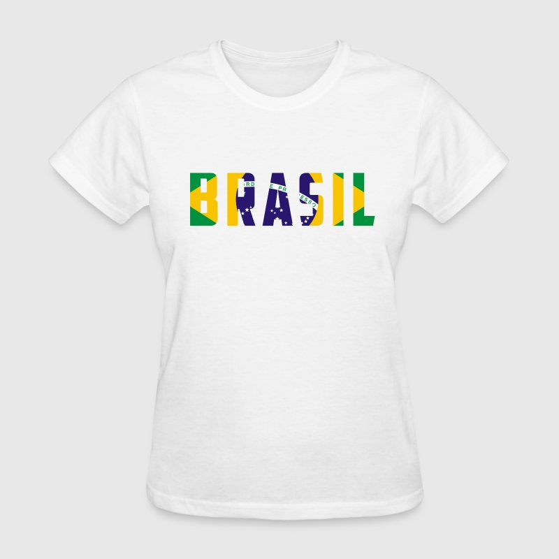 Brazil Name in Flag Women's T-Shirts - Women's T-Shirt