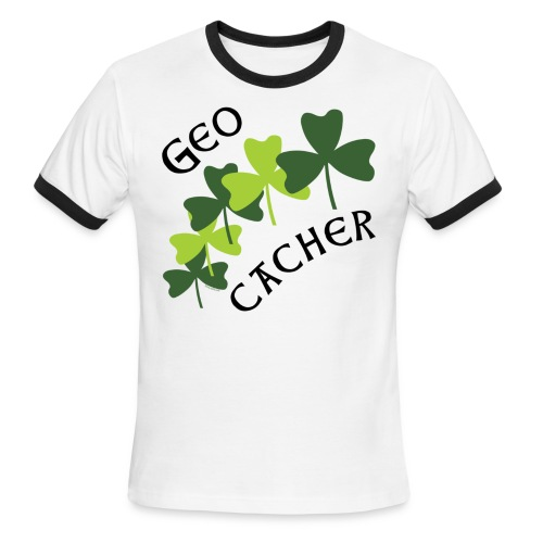 Geocacher Shamrocks - Men's Ringer T-Shirt