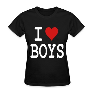 I heart boys - Women's T-Shirt