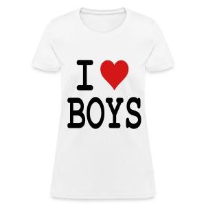 I heart Boys - Women's T-Shirt