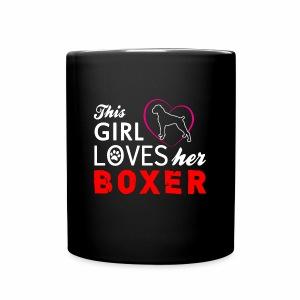 This girl loves her boxer mug - Full Color Mug