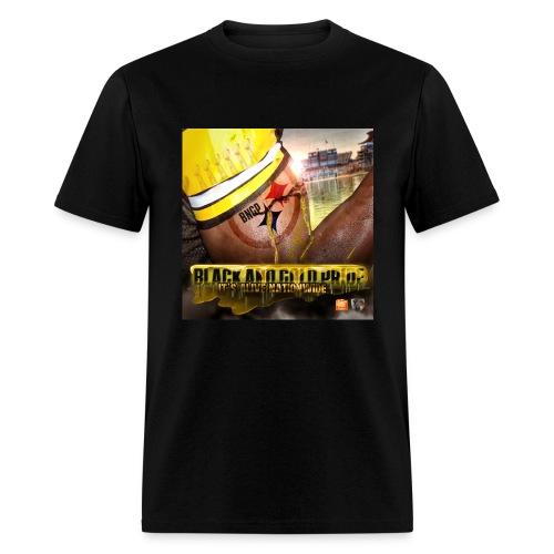 Black and Gold Pride Mens - Men's T-Shirt