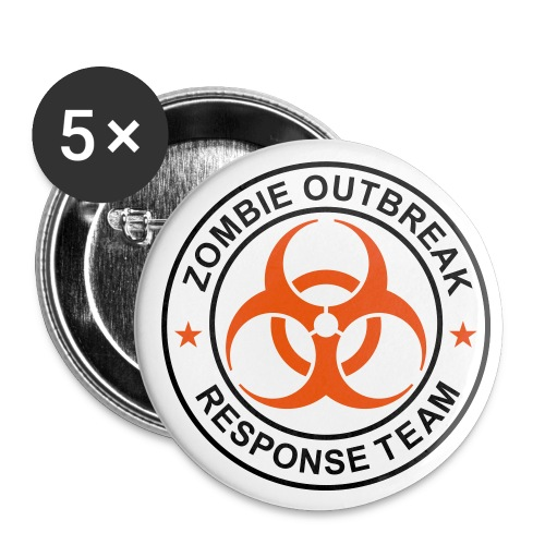 Zombie Outbreak Pins - Small Buttons