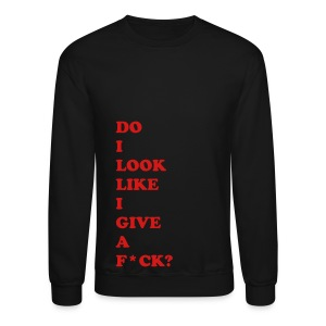 DO I LOOK LIKE I... - RED FLEX/COOPER BLACK FONT - Crewneck Sweatshirt