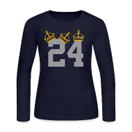 Long Sleeve Shirts ~ Women's Long Sleeve Jersey T-Shirt ~ 3 Crowns