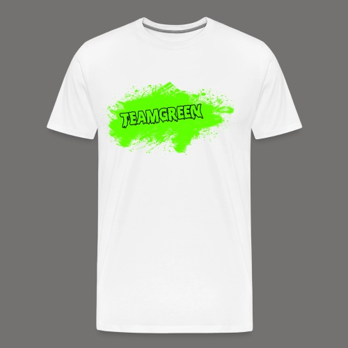 Greenish Shirt Halloween Blood Front (Mens) - Men's Premium T-Shirt