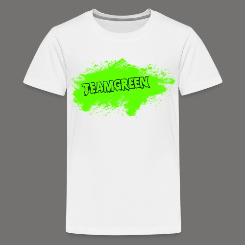 Greenish Shirt Halloween Blood Front (Kids) - Kids' Premium T-Shirt