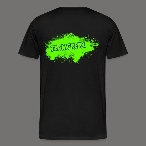 Greenish Shirt Halloween Blood Back (Mens) - Men's Premium T-Shirt
