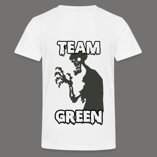 Greenish Shirt Zombie TeamGreen Back (Kids) - Kids' Premium T-Shirt