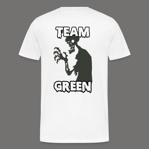 Greenish Shirt Zombie TeamGreen Back (Mens) - Men's Premium T-Shirt