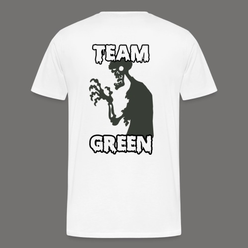 Greenish Shirt Zombie TeamGreen Back (Mens) - Men's Premium T-Shirt