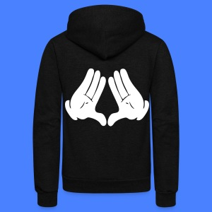 Illuminati Hands Hoodies - stayflyclothing.com - Unisex Fleece Zip Hoodie by American Apparel