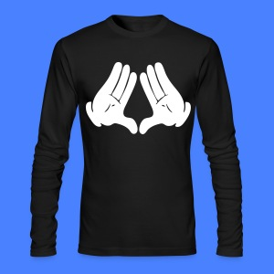 Illuminati Hands Long Sleeve - stayflyclothing.com - Men's Long Sleeve T-Shirt by Next Level