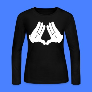 Illuminati Hands Long Sleeve - stayflyclothing.com - Women's Long Sleeve Jersey T-Shirt