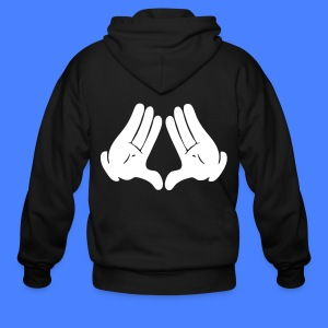 Illuminati Hands Hoodies - stayflyclothing.com - Men's Zip Hoodie