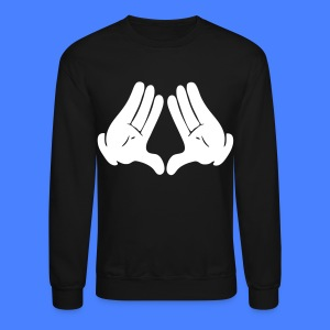 Illuminati Hands Long Sleeve - stayflyclothing.com - Crewneck Sweatshirt