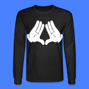 Illuminati Hands Long Sleeve - stayflyclothing.com - Men's Long Sleeve T-Shirt