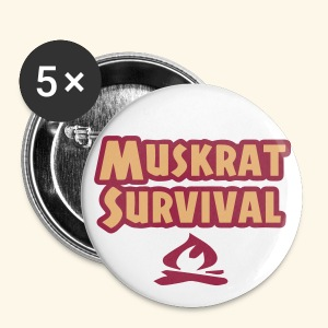 Small Muskrat Survival Button - Small Buttons
