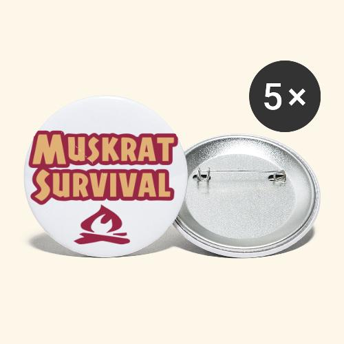 Small Muskrat Survival Buttons (25mm 1) - Buttons small 1'' (5-pack)