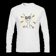 Long Sleeve Shirts ~ Men's Long Sleeve T-Shirt by Next Level ~ Your Brain Long