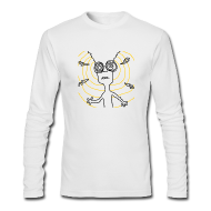 Long Sleeve Shirts ~ Men's Long Sleeve T-Shirt by American Apparel ~ Your Brain Long