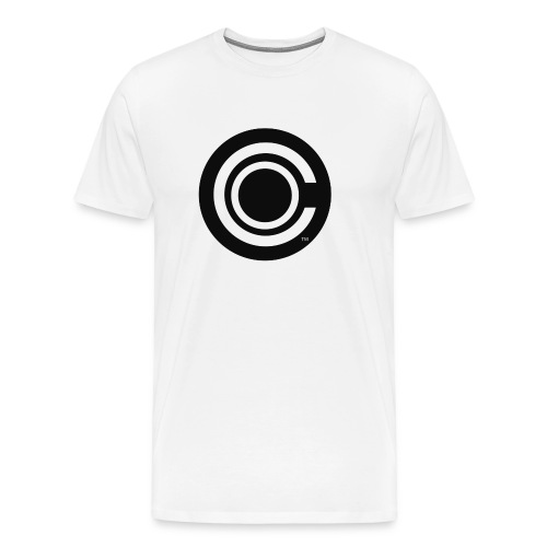 CO Logo White T-Shirt - Men's Premium T-Shirt