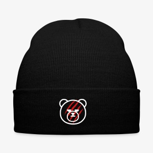 Scratched Bear - Knit Cap with Cuff Print