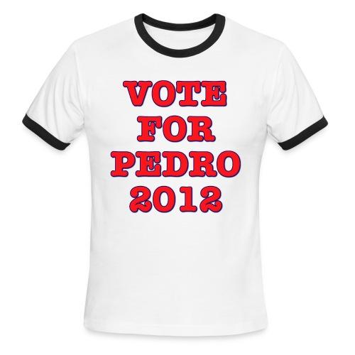 Vote For Pedro 2012 - Men's Ringer T-Shirt